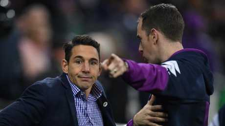Billy Slater has been named to return for the Storm but remains in doubt.