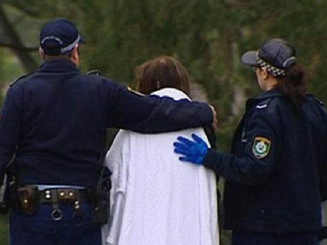 The grandmother had to be treated for shock. Picture: Seven News