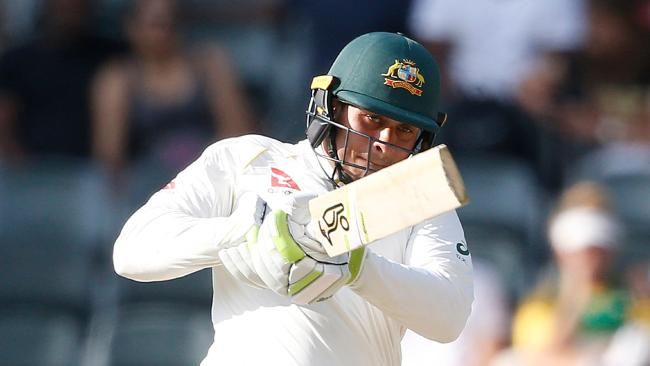 Usman Khawaja has scored a century on debut for Glamorgan.