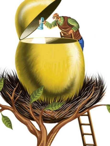 Shine a light on your super fund. Illustration: John Tiedemann.
