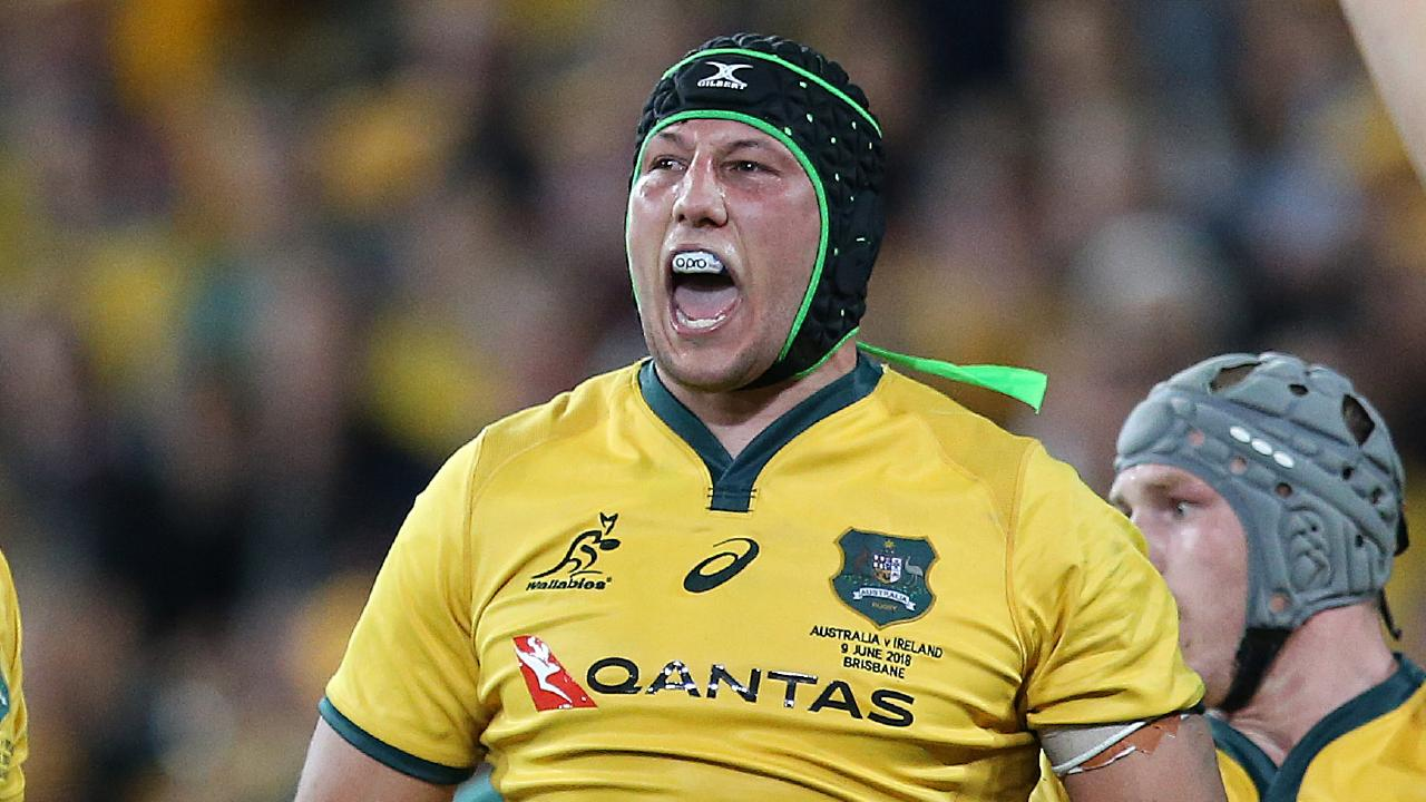 Adam Coleman of the Wallabies. (Photo by Jono Searle/Getty Images)