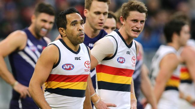 The Adelaide Crows' Eddie Betts has again be racially taunted. Picture: Paul Kane