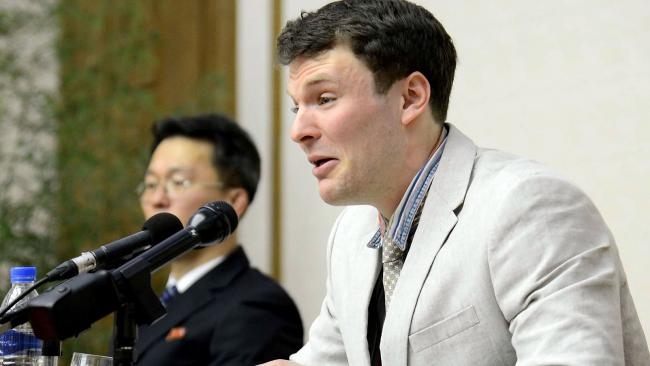Otto Warmbier, who died last June a few days after he was sent home in a mysterious coma after more than a year in prison in North Korea. Picture: AFP