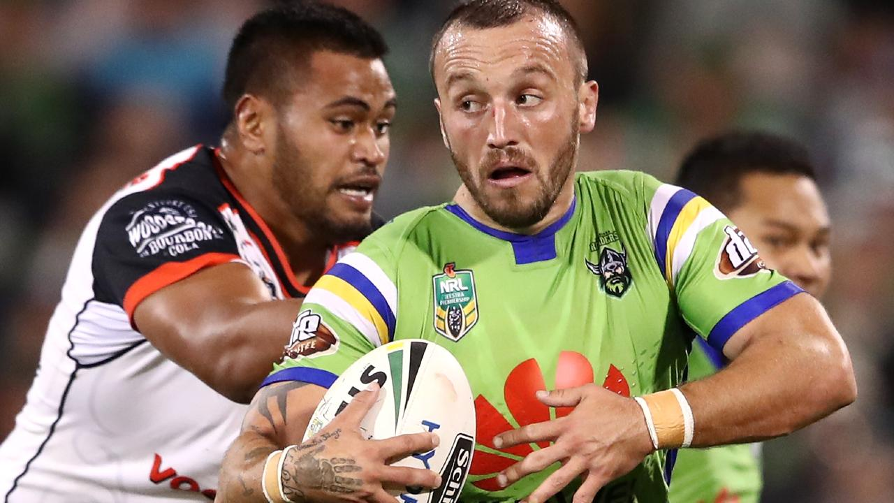 Josh Hodgson returns for the Raiders. (Photo by Cameron Spencer/Getty Images)