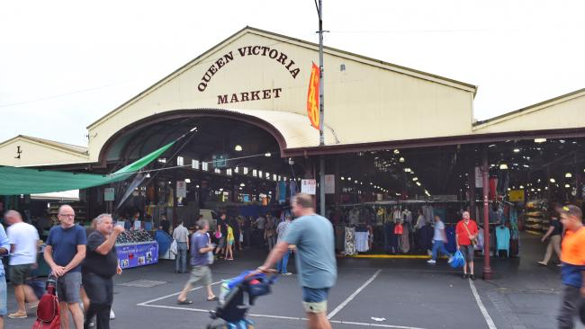 An attack against Queen Victoria Market was foiled. Picture: Tony Gough