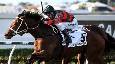 The Autumn Sun boosted his value with a narrow win in the JJ Atkins. Picture: AAP