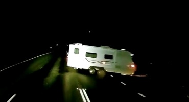 A caravan did a u-turn in front of Craig Dunn in his truck.