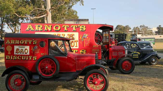 These are old Arnott's Biscuits trucks.