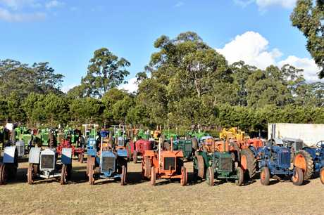 There are 115 tractors for sale in Albert Brimblecombe's collection.