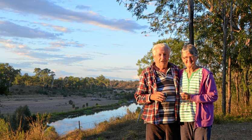 Hans and Liz Van Kalken of Hervey Bay stopped at Gayndah on the last night of their five month trip.