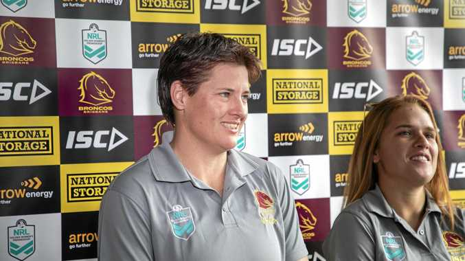 PRIZED RECRUIT: Heather Ballinger was one of five female players to sign inaugural contracts with the Brisbane Broncos ahead of the upcoming NRL Women's competition in September.