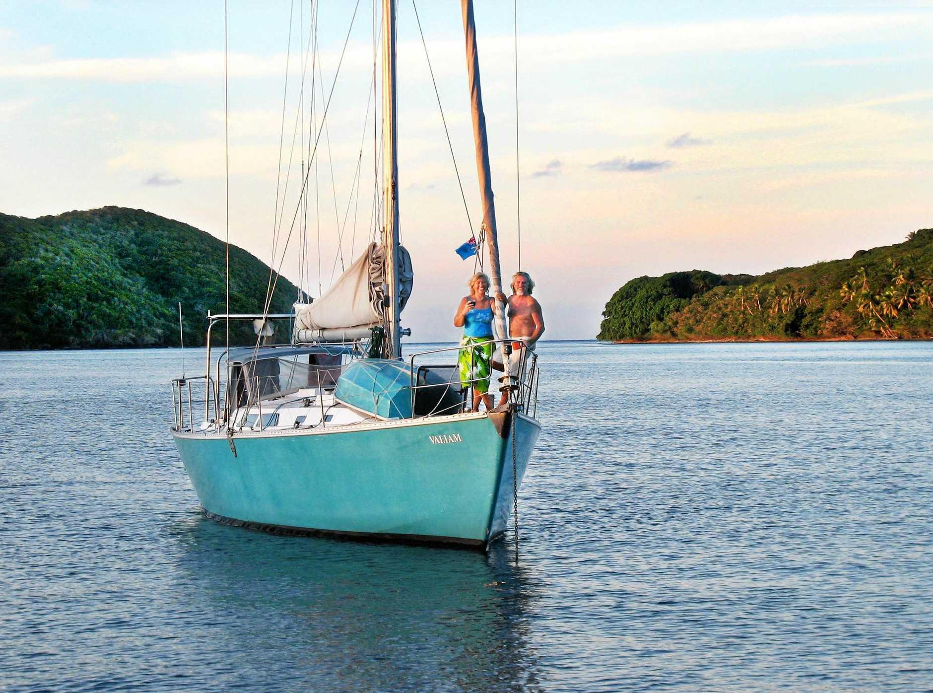 Linda and Bill Anderson on Valiam in Fiji.