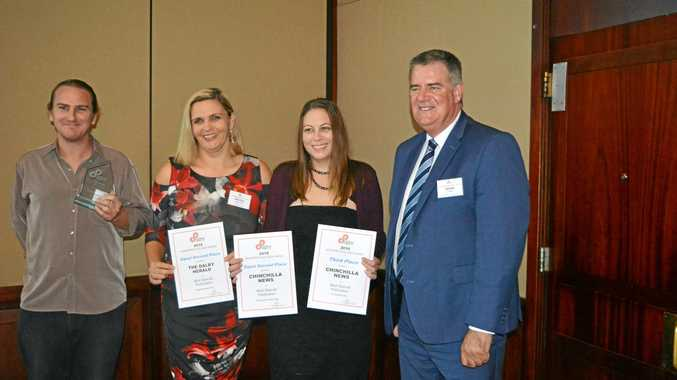 Michael Nolan, Nicole McDougall, Rachael Green and Mark Furner at the Queensland Country Press Awards.