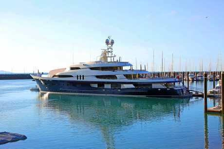 The 70 metre superyacht Felix has been berthed at the Abell Point Marina since Friday last week.