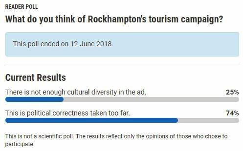 The results of an online poll show 3/4 of the public believe there was nothing wrong with the campaign.