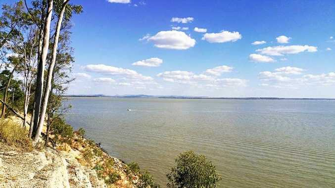 Emerald's Fairbairn Dam, photo taken on April 28.