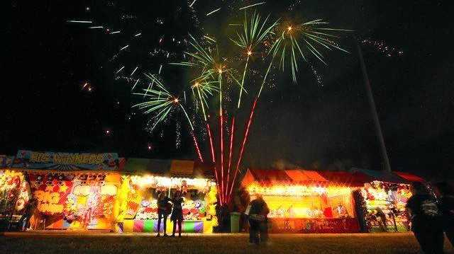 SHOW TIME: Fireworks will light up the night sky at Show Whitsunday, 2018.