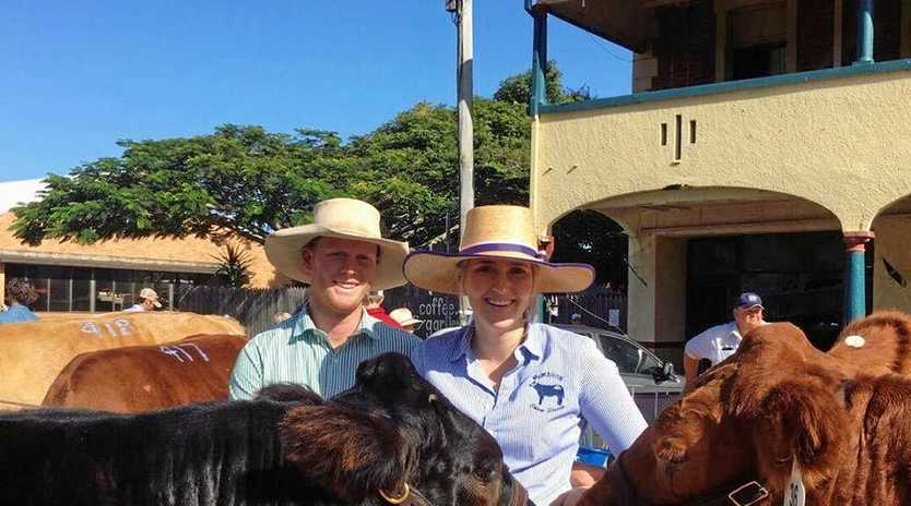 SUCCESS: Mitch McMahon and Shelbi Wantling, from McMahon Show Steers, achieve podium finishes with their steers at Casino Beef Week.