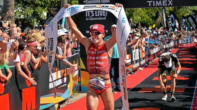 Australian Tim Reed wins the Ironman 70.3 World Championship at Mooloolaba, edging German juggernaut Sebastian Kienle.