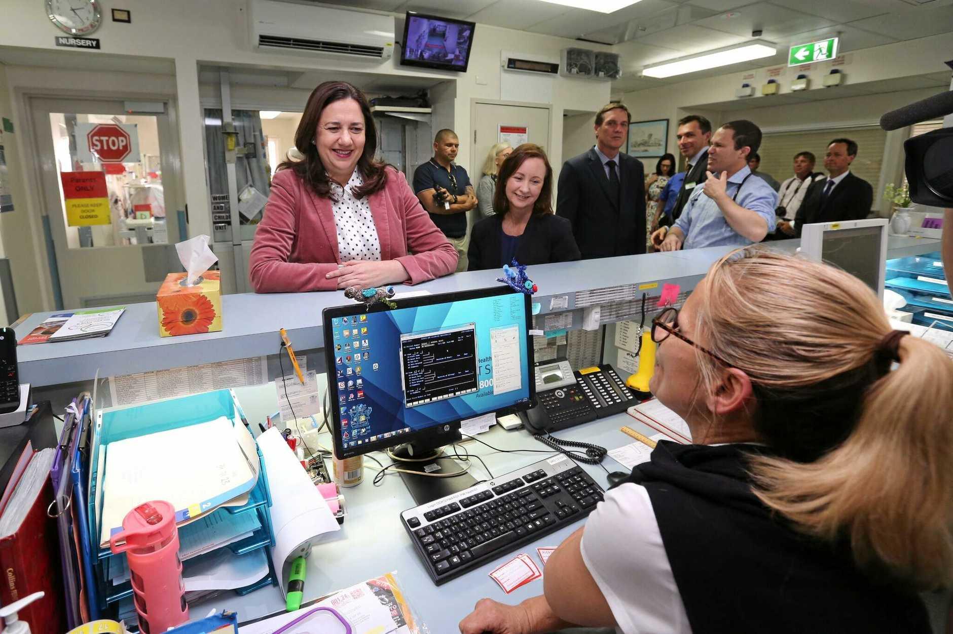 Premier Annastacia Palaszczuk at Kingaroy Hospital yesterday.
