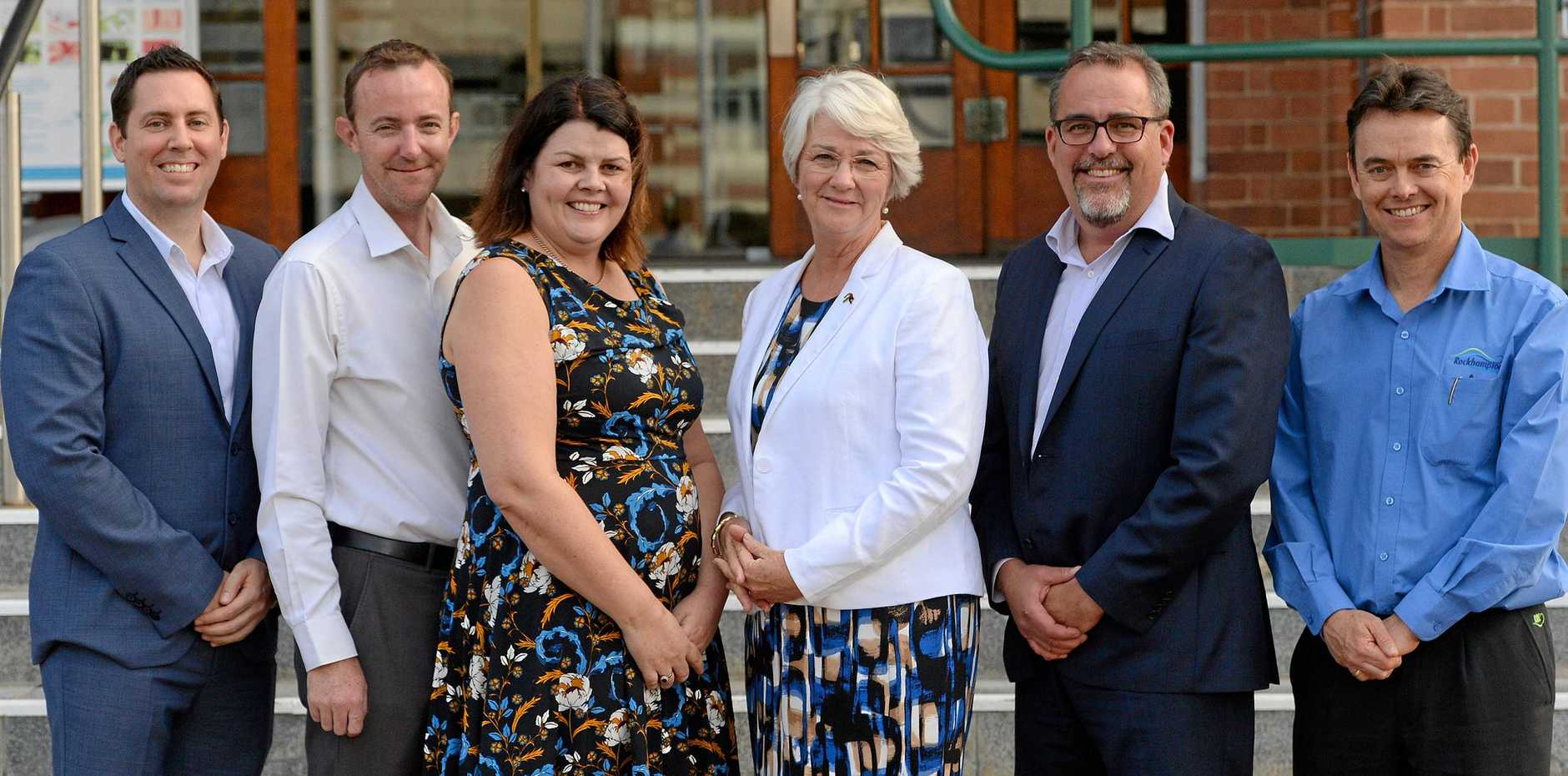 Member's of the Rockhampton Region Council team with Deputy CEO Ross Cheesman on the far right.
