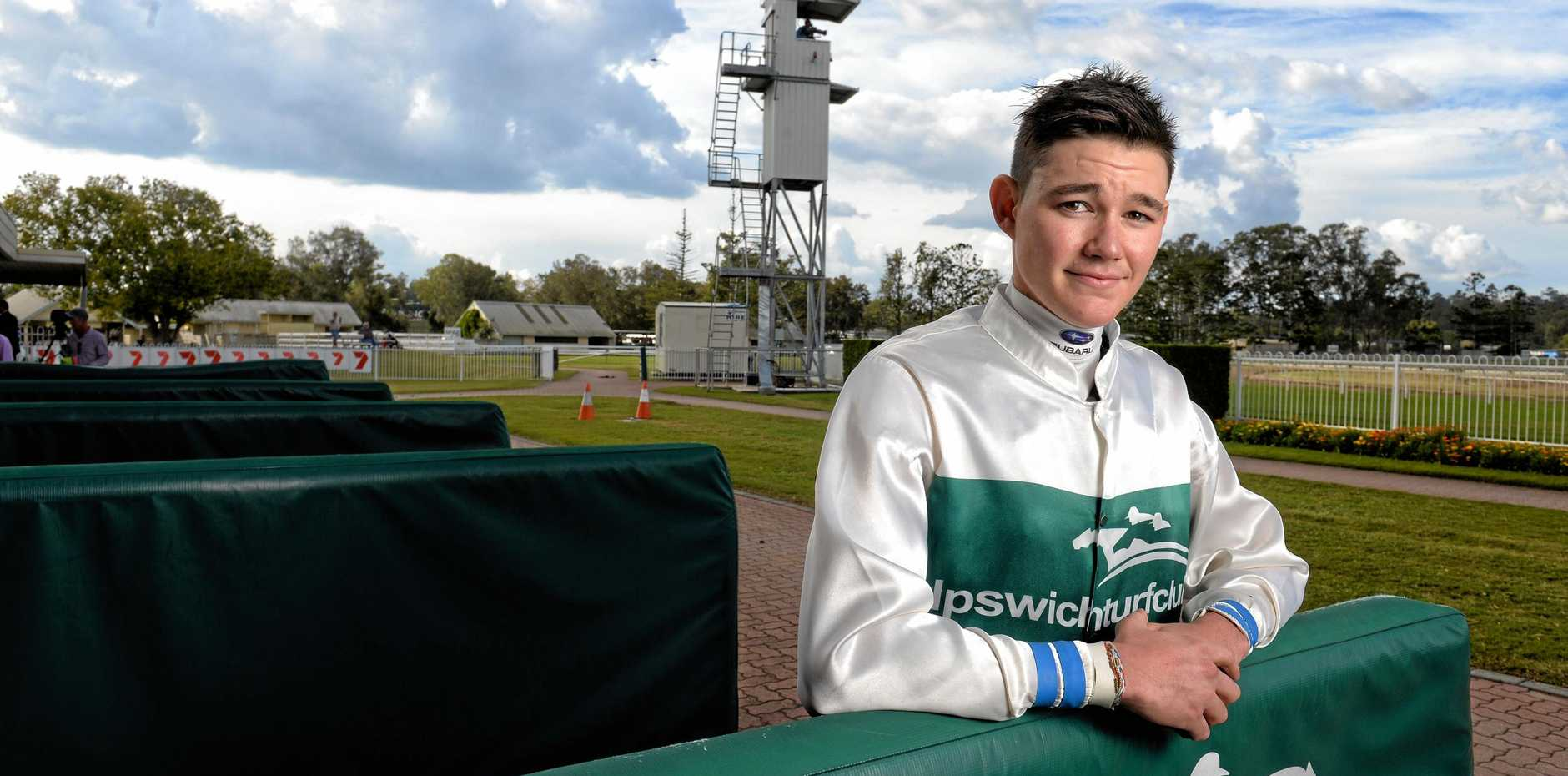 AMBITIOUS: Ipswich-bred jockey Jake Bayliss.