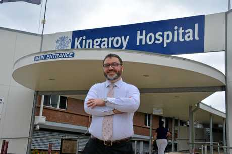 Director of Medical Services in the South Burnett, Dr Isaac Hohaia in front of the Kingaroy Hospital.