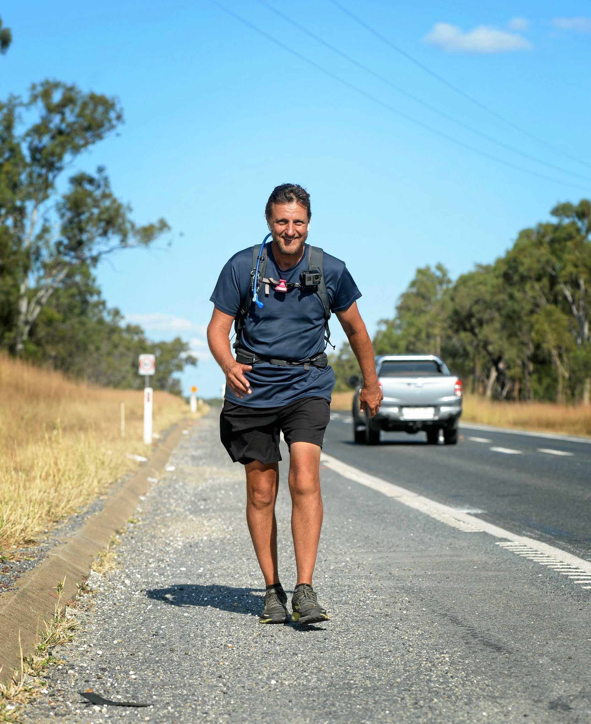 Richard Guarnuccio, Walk for Water 100.