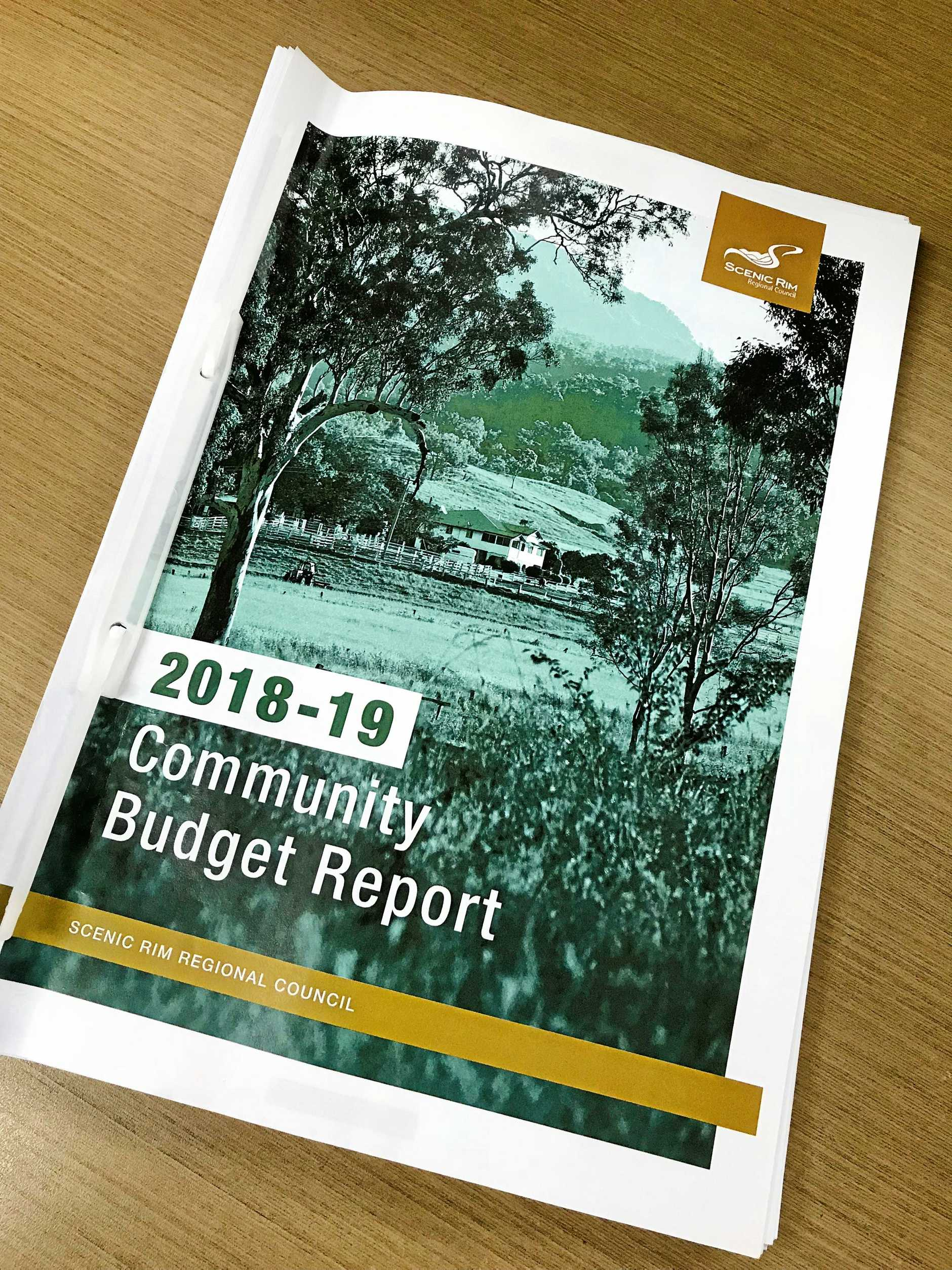 Scenic Rim Regional Council's budget book for 2018-19.