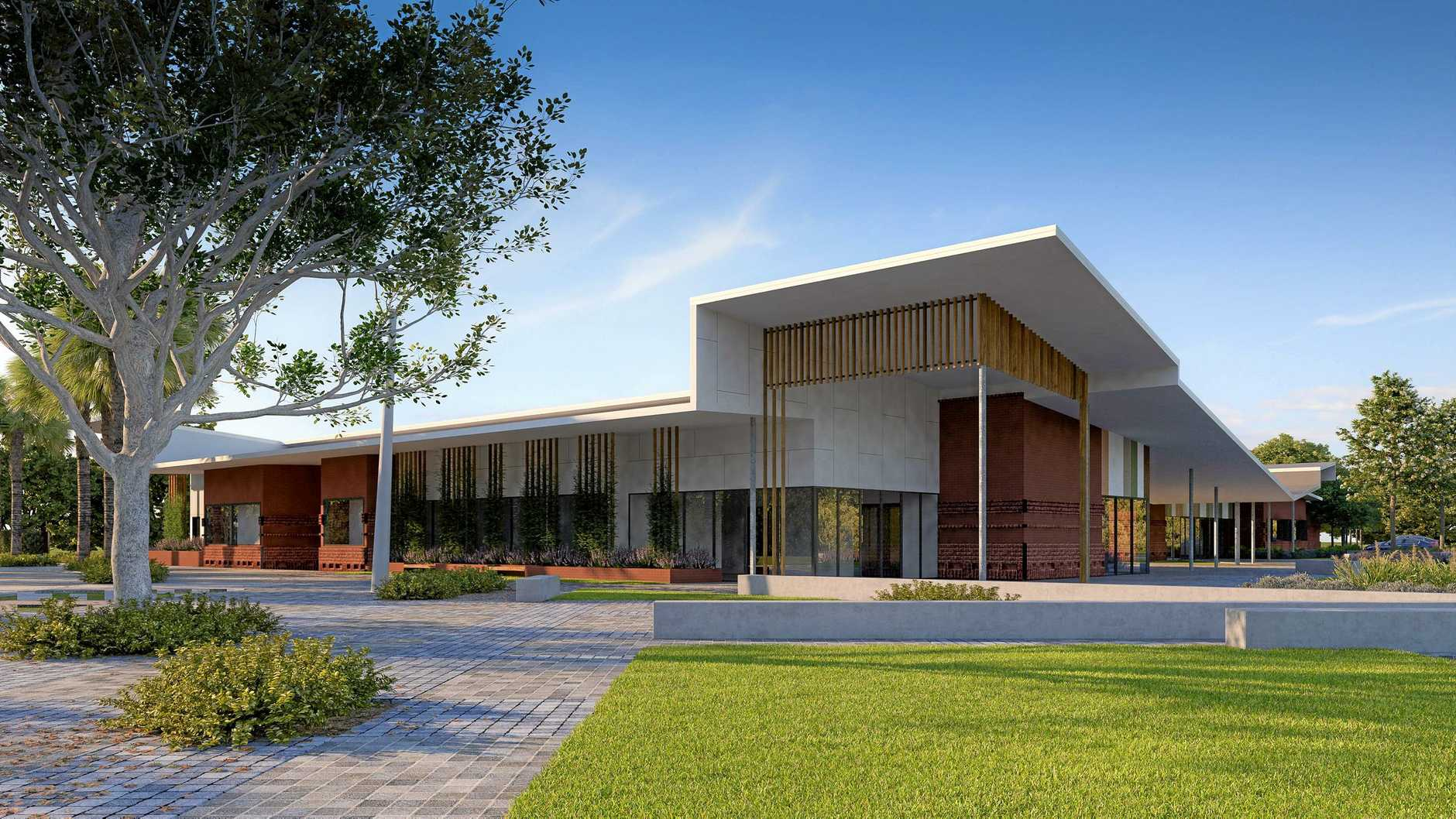 An artist's impression shows the design for the new Baringa Community Centre.