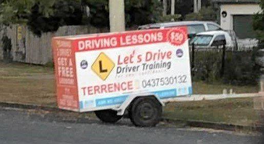 Terrence Harmse's stolen trailer