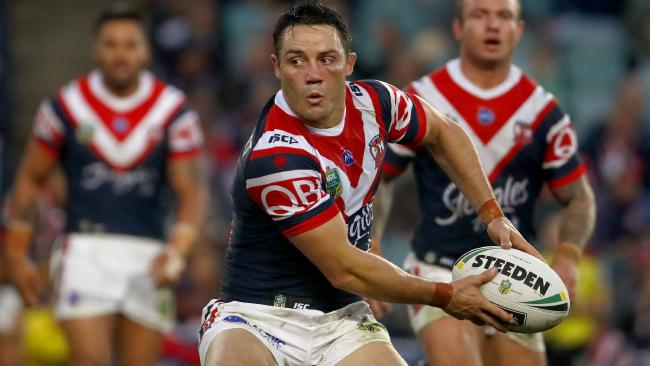 Former Storm man Cooper Cronk has a controlled presence at the Roosters. Picture: Daniel Munoz/AAP