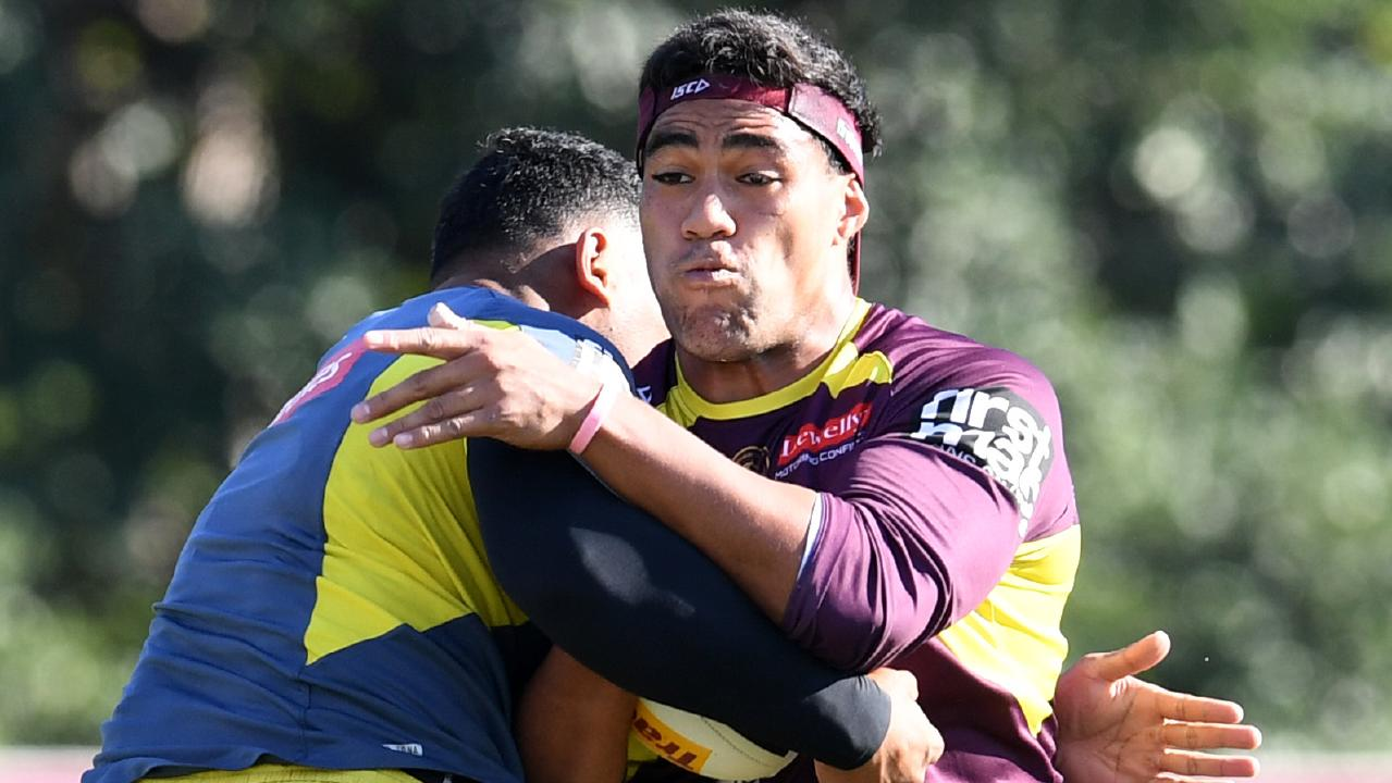 The Brisbane Broncos' Joe Ofahengaue is keen to play State of Origin. Picture: Dan Peled/AAP