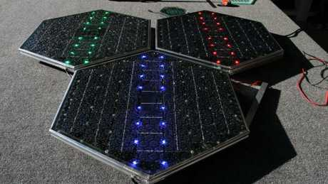 Solar road panels made by US company Solar Roadways.