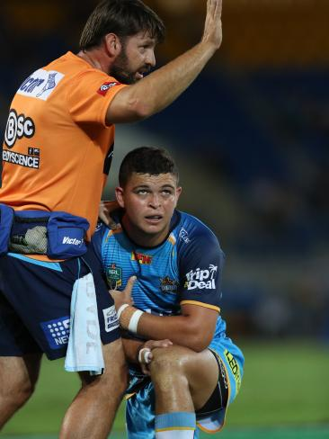 The Titans' Ash Taylor is on a $3 million three-year contract. Picture: Scott Fletcher.