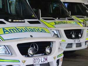 Paramedics transport one person to hospital after crash