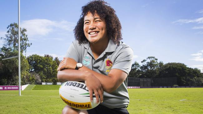New Zealand International Teuila Fotu-Moala has signed with the Broncos. Photo Lachie Millard.