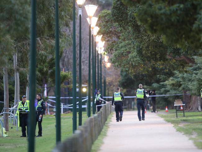 The jogging track that surrounds Princes Park. Picture: David Crosling