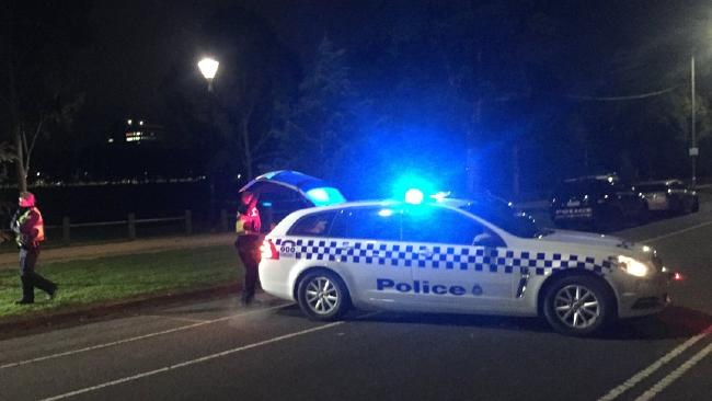 A woman's body has been found on a soccer pitch in Carlton, near Royal Pde and Princes Park Dve. Picture: Christine Ahern/ Today Show.