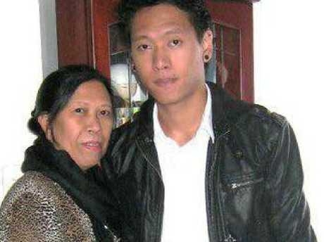 Alleged murder victim Myrna Nilsson with her son Mark . Picture: Facebook.