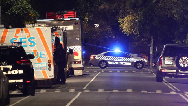 The body of a woman has been found on a soccer field in Carlton North. Picture: David Crosling