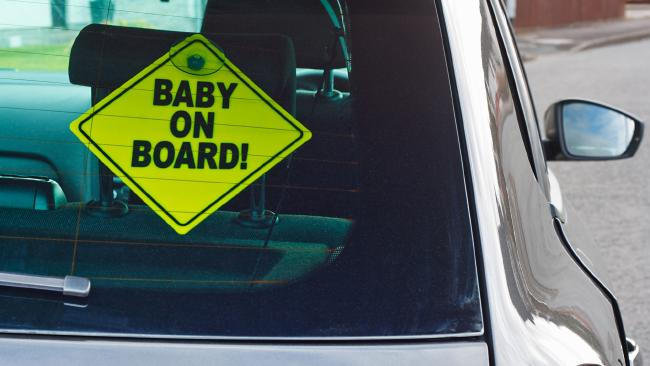 The Baby on Board signs took off as soon as they were created in 1984. Picture: iStock