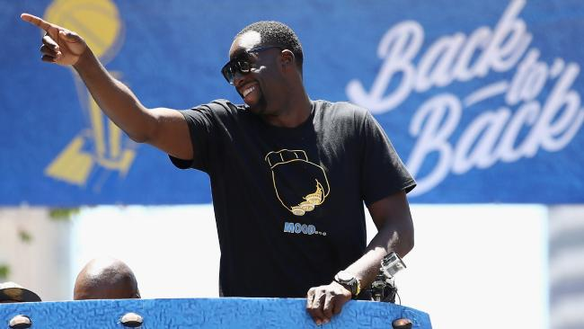 Draymond Green again trolls LeBron James with shirt at Warriors' parade