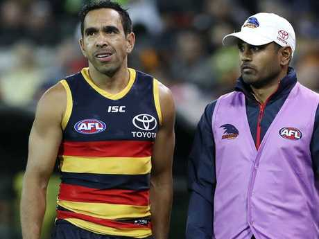 Eddie Betts said he is content at the Crows.