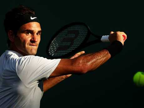 Roger Federer is back in action after three months out
