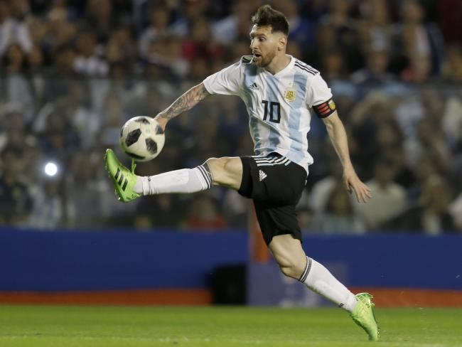 Argentina's Lionel Messi could seal his title as perhaps the greatest ever in Russia. Pic: AP