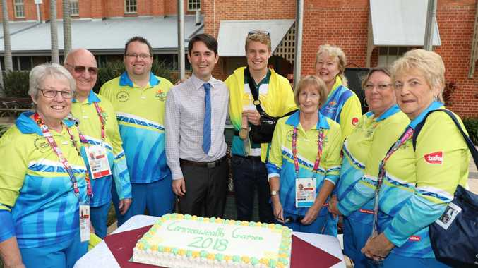 The fabulous volunteers who represented the region on a world stage at the Commonwealth Games celebrated their achievements alongside Fraser Coast Mayor George Seymour and Hervey Bay's gold medal winner Matthew Hauser.