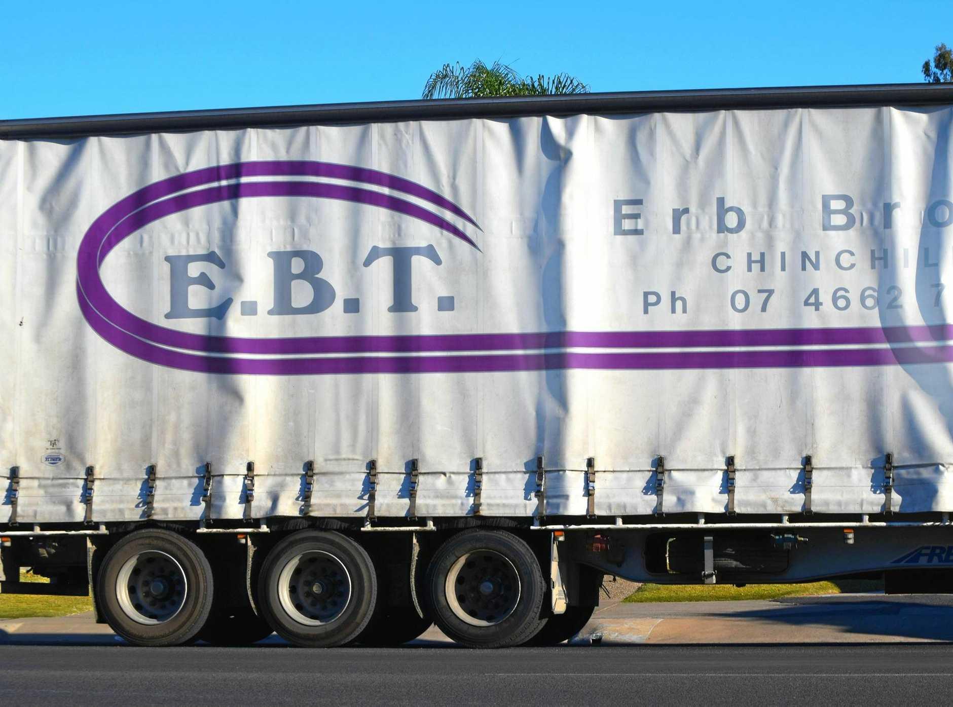 IN LIQUIDATION: Erb Brother's Transport truck seen in Chinchilla.