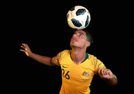 Daniel Arzani ahead of the 2018 Russia World Cup. Picture: Toby Zerna