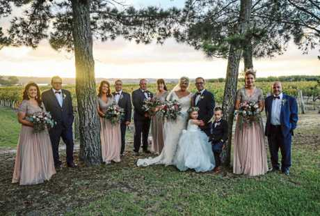 BACK HOME: Donna Torissi and Philip Du-Briard held their wedding in Donna's home town.